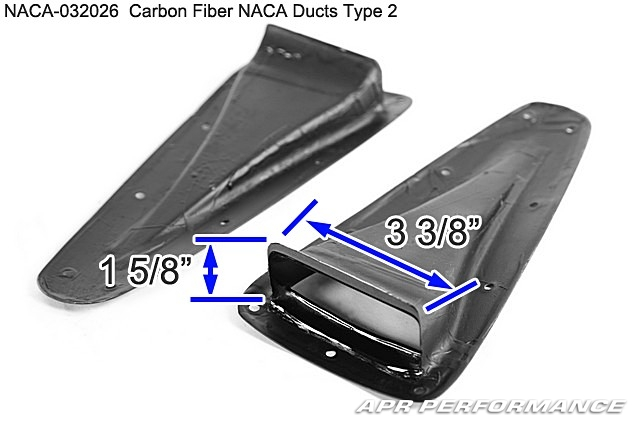 Apr performance carbon fibre universal naca duct type 2 for Naca duct template
